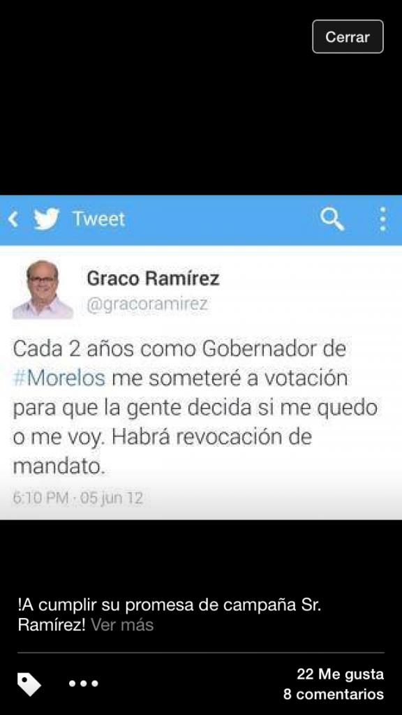 El Tweet de Graco