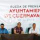 Agradece Cuauhtémoc a personal que liquida incendios en Cuernavaca