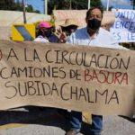 Con golpeadores el ayuntamiento termina una protesta ciudadana